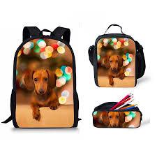 Женский рюкзак с рисунком <b>таксы</b> и собаки, школьный рюкзак на ...