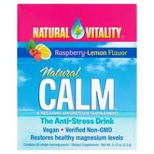 <b>Natural Vitality Natural Calm</b> Raspberry-Lemon Flavor the <b>Anti</b> ...