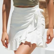 sexy mini skirt <b>Fashion Women Solid</b> Ruffles <b>Bandage</b> Lace Up ...