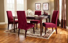 Red Dining Room Chair Covers Dining Chair Slipcovers Dining Room 439 Latest Decoration Ideas