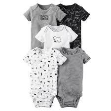 <b>5 Pieces</b>/<b>Lot Bodysuits</b> Summer <b>Baby</b> Girl <b>Clothes</b> Cotton ...