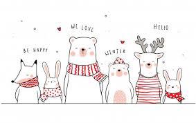 Banner background funny animal <b>bear deer</b> fox and <b>rabbit</b> Premium ...