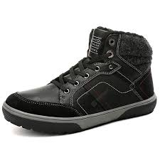 <b>AILADUN Men</b> Stitching Lace Up Keep <b>Warm</b> Short Boots Outdoor ...