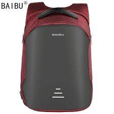 <b>BAIBU Men bag</b> USB Charging <b>Backpack</b> Headphone plug <b>Anti</b>-theft ...