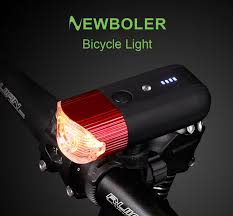 NEWBOLER <b>Bicycle Smart Induction Front</b> Light Set USB ...