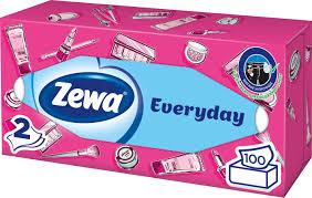 """<b>Салфетки</b> для <b>лица</b> Zewa """"Everyday"""", 100 шт"""