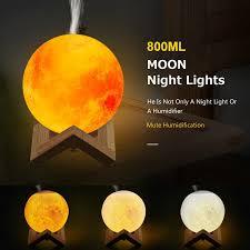 [Ready Stock]Original <b>880ML Air Humidifier</b> 3D Moon Lamp Light ...