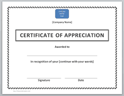 certificate templates for word microsoft and open office certificate of appreciation template