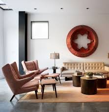view in gallery papa bear chairs and ottomans by hans wagner in the cool living space noe valley residence bachelor pad furniture