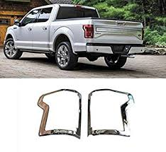 <b>2pcs ABS</b> Chrome <b>Rear Tail</b> Light Bezel Cover Trim For Ford F150 F ...