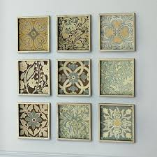 scrapbook paper and dollar store frames cheap decorations for a big wall cheap office decorations