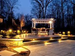 awesome white pergola feat wrought iron outdoor bar stools design and contemporary walkway patio lighting idea awesome modern landscape lighting design