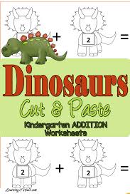 FREE Dinosaurs Cut and Paste Addition Worksheets | Free Homeschool ...FREE Dinosaur Printables