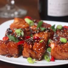 Teriyaki <b>Salmon Bites</b> [Video] | Salmon recipes, Salmon dishes ...