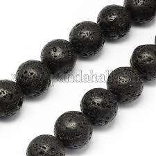 Wholesale <b>Natural Lava Stone</b> Beads Strands, Round, 12mm, Hole ...