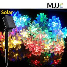 Solar Outdoor <b>Lotus Flower String</b> Lights 30 50 LEDs Solar Powered ...