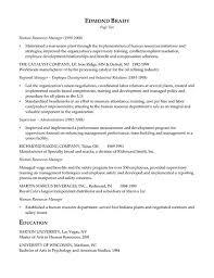 hr executive resume example sample sample resume executive