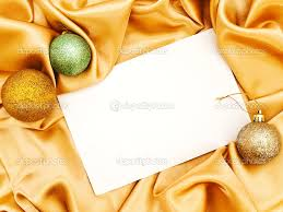 blank christmas invitation stock photo © s razvodovskij 1498493 blank christmas invitation decoration balls over golden cloth photo by s razvodovskij