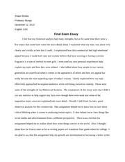 literacy narrative essay   shawn brodie english  my journey of  most popular documents for english