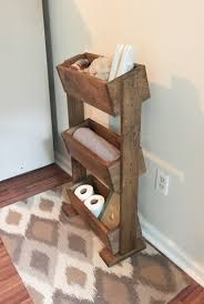 country themed reclaimed wood bathroom storage: bathroom shelf farmhouse decor home organization rustic shelf bathroom storage  tier planter box storage ladder shelf