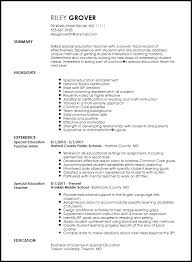 Sample Teacher Resume Sample Elementary Education Resume Sample Education  Resume Objectives Resume Templates For Teachers Sample  special     Sample Customer Service Resume