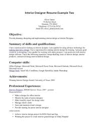 interior design resume summary of qualifications interior decor resume sinterior designlewesmr