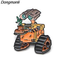 2019 <b>P3701</b> Wholesale <b>Funny</b> Robot WALL E Metal Enamel Pins ...