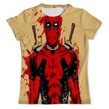 <b>Футболки</b> с принтом Deadpool - купить одежду и мерч Дэдпул в ...