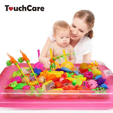 Touchcare <b>40 Pcs</b>/<b>lot Children's Magnetic Fishing</b> Toy With Inflatable ...