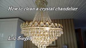 Easy way to clean a <b>crystal chandelier</b> - Lilo Siegel - YouTube