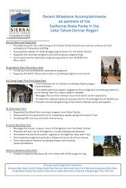 accomplishments sierra state parks foundation accomplishments