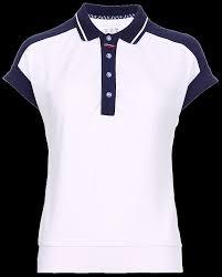 W13210G-WN191 <b>Рубашка поло женская</b> (белый/синий), артикул ...