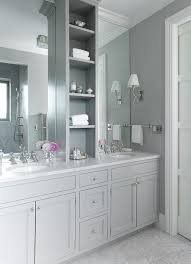 bathroom features gray shaker vanity: grey shaker bathroom vanity grey master bathroom gray shaker vanity mosaic marble floor gray shelf