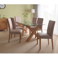 Lyon Oak Bedroom Furniture Casa Web Oakley Glass Table 6 Cha Dining Set Oak Leekes