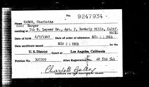 sources file 1969 11 21 u s naturalization record indexes 1791 1992 for charlotte gabor 1907 1972