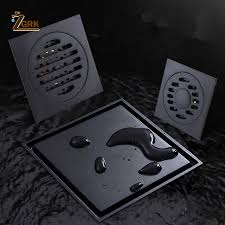 ZGRK <b>Drain</b> 10cm Square <b>Black Brass</b> Shower <b>Drain</b> Strainer <b>Floor</b> ...