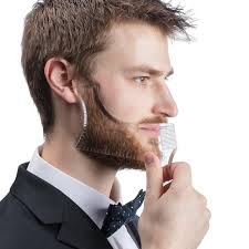 Men's Beard Care Black/White Appearance moustache moulding ...