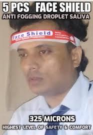 Economical <b>5 PCS Face</b> Shield Cover Sheild Medical Covid Corona ...