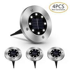 Solar in Ground Lights, <b>8 LED Solar Garden</b> Lights, Solar Powered ...