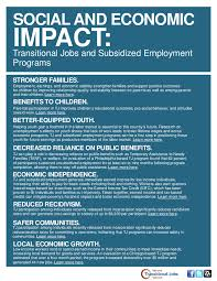 social and economic impact transitional jobs and subsidized social and economic impact transitional jobs and subsidized employment programs