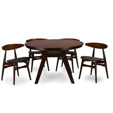 studio vintner dining set deznubdl baxton studio flamingo mid century dark walnut wood pc dining set affo