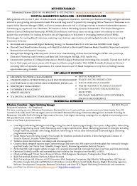 marketing manager resume sample template product marketing resume social media marketing resume sample