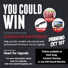 raffle tickets heart for uganda raffle ticket image