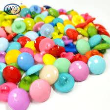 <b>HL</b> 100pcs Round Shank Mix <b>Colors</b> Plastic Buttons DIY Crafts ...