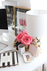 meagan wards girly chic home office office tour chic office decor