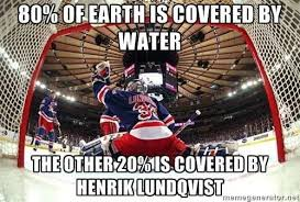 Henrik Lundqvist meme | NEW YORK RANGERS <3 | Pinterest | Hockey ... via Relatably.com