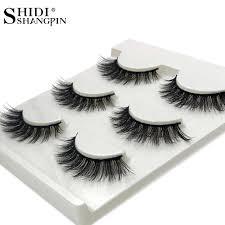 <b>SHIDISHANGPIN</b> 3 pairs <b>mink eyelashes</b> natural long <b>3d eyelash</b> ...