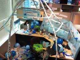 image of decorating your office cubicle birthday office decorations