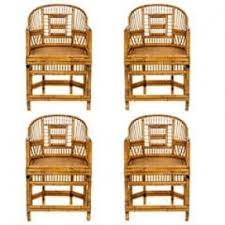 chinese export bamboo arm chairs set of four chinese bamboo furniture