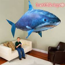 Online Shop <b>Remote Control Shark Toys</b> Air Swimming Fish Infrared ...